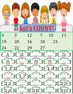 Interactive worksheet Counting 1-30