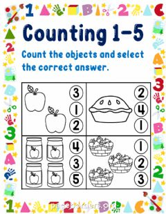 Interactive worksheet Counting 1-5