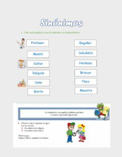 Interactive worksheet Sinónimo