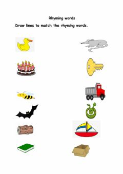 Ficha interactiva Rhyming words