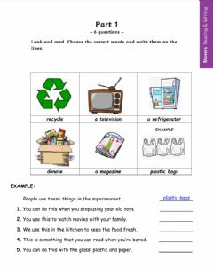 Interactive worksheet Midterm exam movers -  4th graders basic