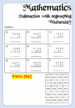 Interactive worksheet Week 19 - Mathematics - Wednesday