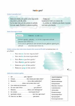 Interactive worksheet Hasten-Hasiko gara?