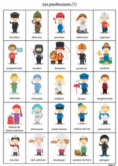 Interactive worksheet Le professions
