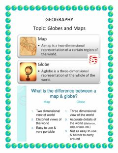 Interactive worksheet Maps And Globes
