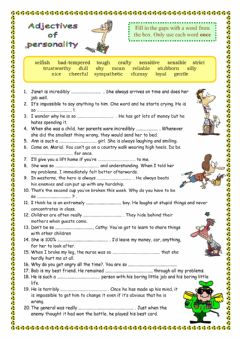 Interactive worksheet Traits of character 2