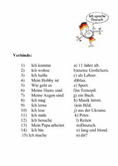 Interactive worksheet Vorstellung