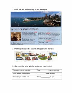 Interactive worksheet Read the text and do the activities