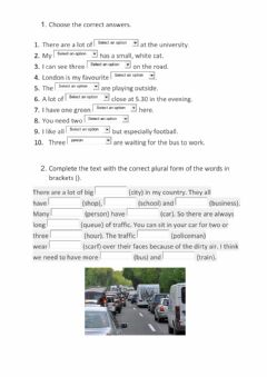 Interactive worksheet MGL E 01 Singular and Plural Nouns