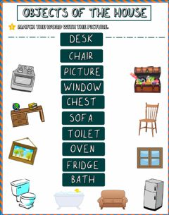 Interactive worksheet Household Objects