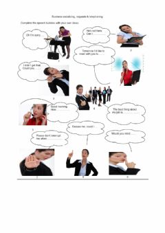 Interactive worksheet Business telephone conversations