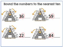 Interactive worksheet Rounding to the nearest ten