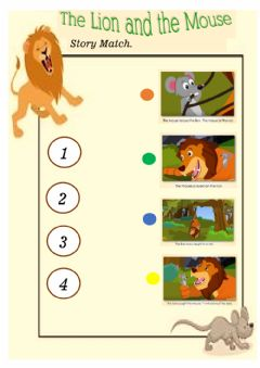 Interactive worksheet Story the lion and the mouse