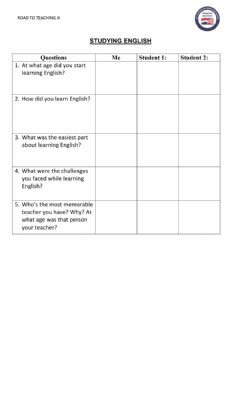 Interactive worksheet Studying English Interview