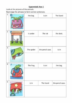 Interactive worksheet Unit 3 pet show - in, on, under (Part 2)