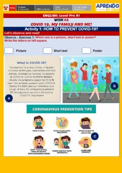 Interactive worksheet How to prevent covid-19