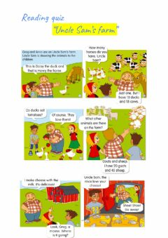 Interactive worksheet Reading- Uncle Sam's farm