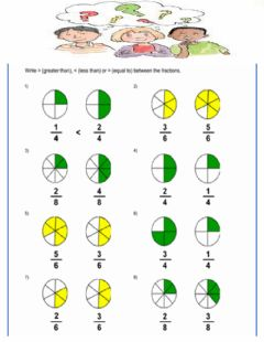 Interactive worksheet Comparing Fractions