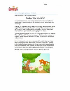 Interactive worksheet The Boy Who Cried Wolf