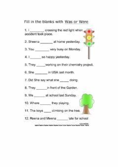 Interactive worksheet Past simple of the verb to be