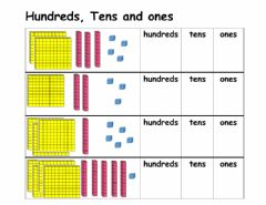 Interactive worksheet Counting in hundreds, tens and ones