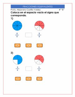Interactive worksheet Fracciones equivalentes 2