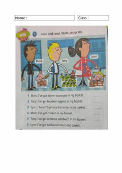 Interactive worksheet Look, count and answer.