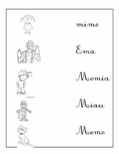 Interactive worksheet Palabras con M