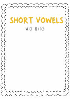 Interactive worksheet Short vowels!