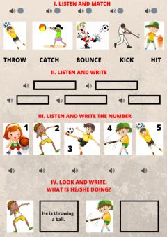 Interactive worksheet Sports and hobbies