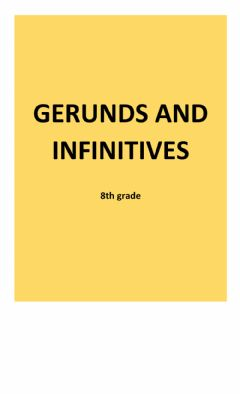 Interactive worksheet Gerunds and infinitives