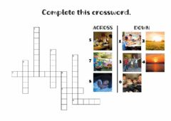 Interactive worksheet Complete this crossword.