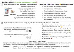 Interactive worksheet BEEN GONE To the amusement park