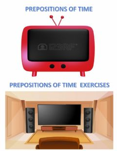 Interactive worksheet Prepositions of time explanation