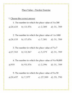 Interactive worksheet Place Value - Choose