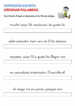 Interactive worksheet Ordenar palabras 1