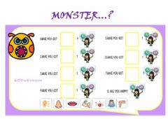 Interactive worksheet Monster