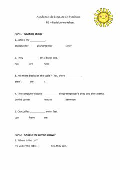 Interactive worksheet PI3 Revision worksheet