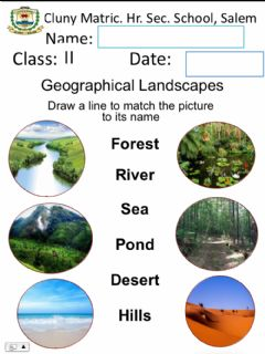 Interactive worksheet Geographical Landscapes