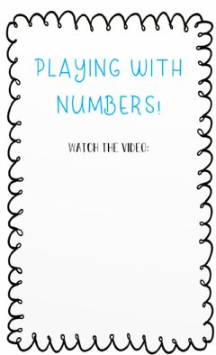 Interactive worksheet Playing with numbers