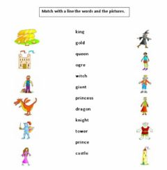 Interactive worksheet fairy tales characters vocabulary