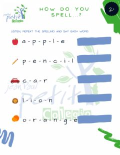 Interactive worksheet Cpjp -how do you spell...?