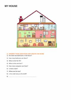 Interactive worksheet My favourite room