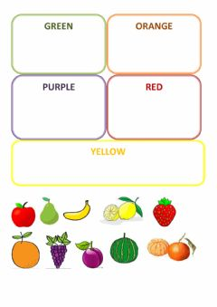 Ficha interactiva Fruits and Colours