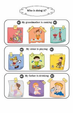 Ficha interactiva Daily actions and family members