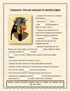 Interactive worksheet Cleopatra