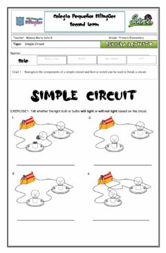 Interactive worksheet Review circuits-vocabulary-simple circuits