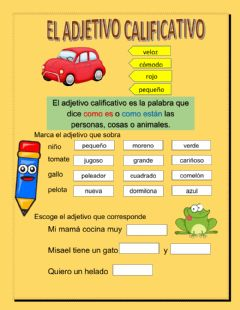 Interactive worksheet Adjetivo calificativo