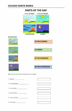 Interactive worksheet Parts of the day