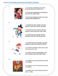 Interactive worksheet Pirate Story - Reading Comprehension